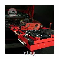 Sunex 8019 Deluxe Work Table Drawer Storage Adjustable Heavy Duty 2 Caster Red
