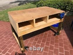 Super Sturdy Workbench with Heavy Duty Retractable Casters