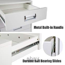 TOPSKY 5 Drawer Mobile Cabinet Fully Assembled Except Casters Built-in Handle