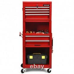 Tool Chest 6 Drawer Tool Garage Rolling Locking Casters Handle Heavy Duty Steel