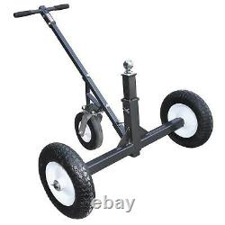 Tow Tuff Adjustable Steel 1000 Lb Heavy Duty Trailer Dolly with Caster (Open Box)