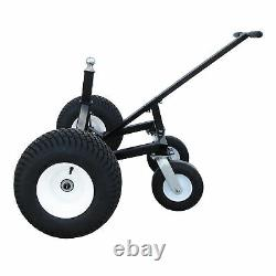 Tow Tuff Adjustable Steel 1000 lb Heavy Duty Trailer Dolly with Caster (For Parts)