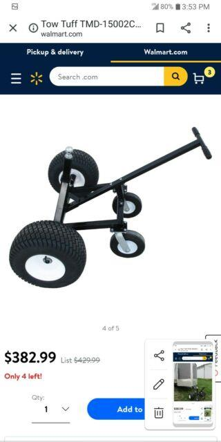 Tow Tuff Tmd-15002c Adjustable Steel 1000 Lb Heavy Duty Trailer Dolly With Caster