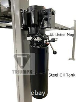 Triumph 8,000 lbs. 4-Post Parking Lift Ramps Jack Tray 3 Drip Trays Caster Kit