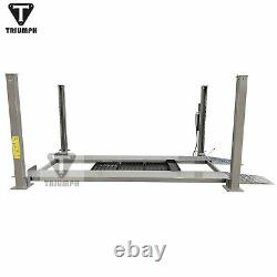 Triumph 8,000 lbs. 4-Post Parking Lift Ramps Jack Tray 3 Drip Trays Casters