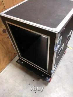 Used Anvil ATA case with heavy duty casters and end covers