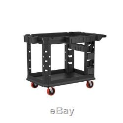 Utility Tool Cart Heavy Duty Plastic Durable Casters Cord Hook Scratch Resistant