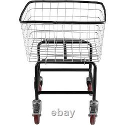 VEVOR Wire Laundry Cart Wire Laundry Basket 2.2 Bushel Heavy Duty with 5'' Casters