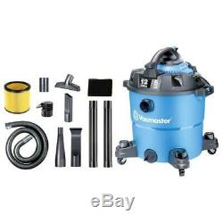 Vacmaster Wet Dry Vacuum Cleaner 12 Gallon Heavy Duty Detachable Blower Caster