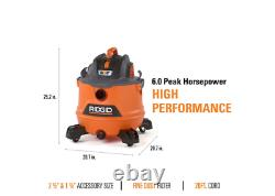 Vacuum Wet Dry Vac Portable 14 Gallon 6.0-Peak HP NXT with Auto Detail Kit Clean