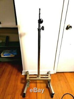 Vintage Photogenic Heavy Duty Industrial Light Stands with Casters
