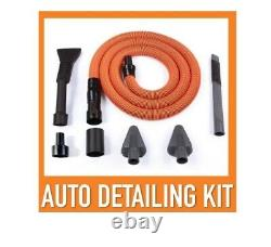 Wet Dry Vacuum Heavy Duty Powerful Bare Floor Carpet Wood with Auto Detail Kit