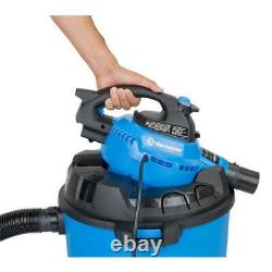 Wet/Dry Vacuum with Detachable Blower Heavy Duty Caster Sturdy Convenient 12-gal