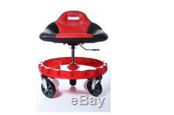 Work Stool Chair Rolling Creeper Seat Casters Heavy Duty Mechanics Auto Traxion