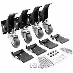 Workbench Caster kit 4 Heavy Duty Retractable Casters With 4 Spring Lock Quick