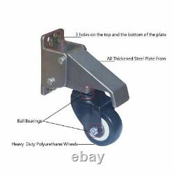 Workbench Casters Kit Lifting Casters Heavy Duty 880lbs Capacity Retractable