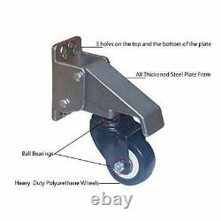 Workbench Casters Kit Lifting Casters Heavy Duty 880lbs Capacity Retractable C